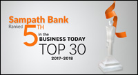 Sampath Bank among Top 5 in Business Today Awards