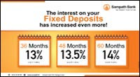 The interest on your Fixed Deposits has increased even more!
